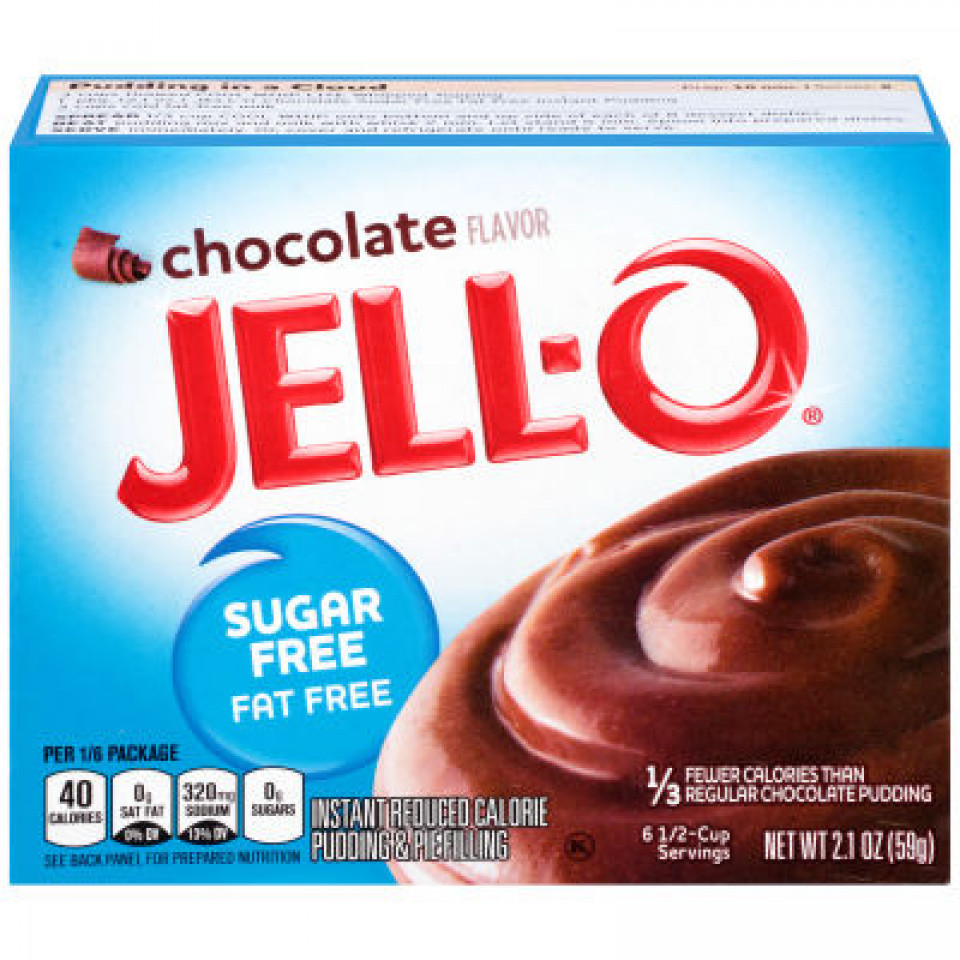 Jell-O Instant Sugar-Free Fat-Free Chocolate Pudding 59GR
