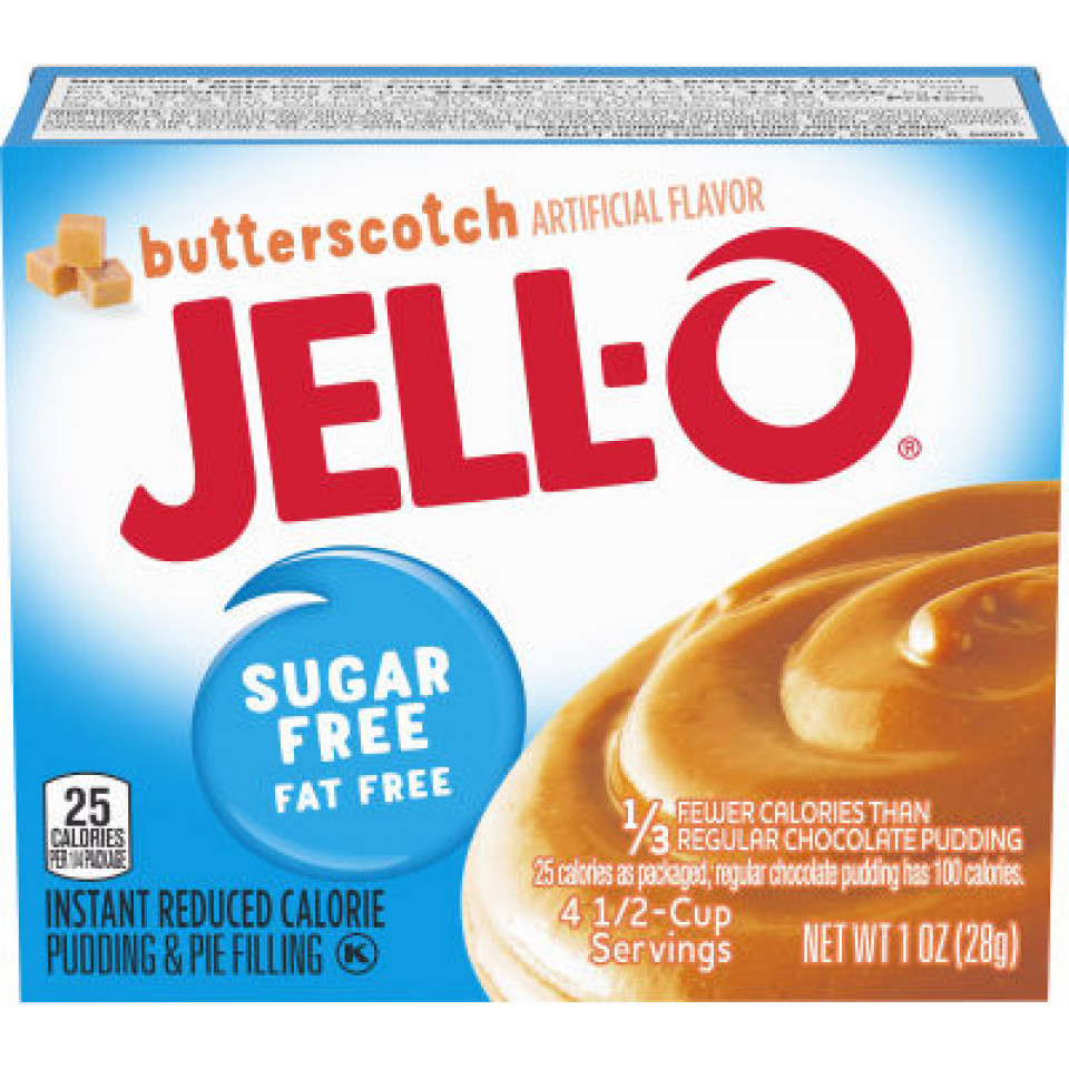 Jell-O Instant Sugar-Free Fat-Free Butterscotch Pudding 39GR