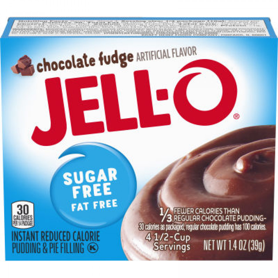 Jell-O Instant Sugar-Free Fat-Free Chocolate Fudge Pudding 39GR