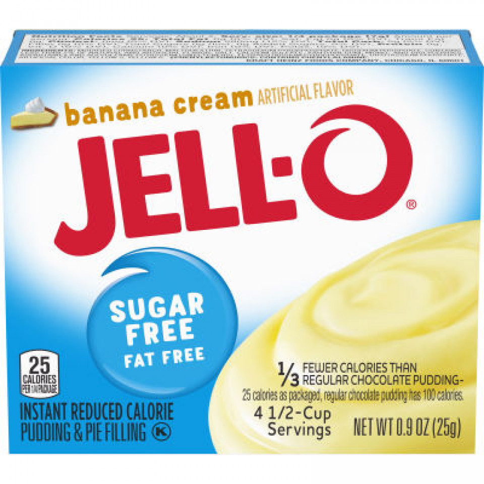 Jell-O Instant Sugar-Free Fat-Free Banana Pudding 25GR